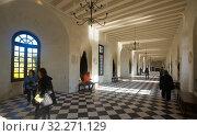 Galleries in Chateau de Chenonceau, France (2018 год). Редакционное фото, фотограф Яков Филимонов / Фотобанк Лори