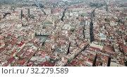 Купить «Aerial view of the spanish city of Reus. Tarragona province. Catalonia. Spain», видеоролик № 32279589, снято 17 января 2019 г. (c) Яков Филимонов / Фотобанк Лори