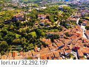 Купить «Aerial view of Gorizia cityscape, Italy», фото № 32292197, снято 3 сентября 2019 г. (c) Яков Филимонов / Фотобанк Лори