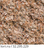 Купить «Seamless background, texture of hewn unpolished natural stone pink granite», фото № 32295229, снято 23 сентября 2019 г. (c) Юлия Бабкина / Фотобанк Лори