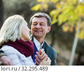 Купить «Portrait of senior couple in park», фото № 32295489, снято 17 октября 2019 г. (c) Яков Филимонов / Фотобанк Лори