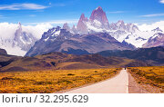Cerro Torre and glaciers (2017 год). Стоковое фото, фотограф Яков Филимонов / Фотобанк Лори