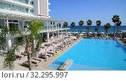 Protaras, Cyprus - Oct 12. 2019. Constantinos the Great Beach Hotel. Редакционное видео, видеограф Володина Ольга / Фотобанк Лори