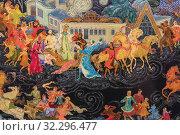 Купить «Palekh traditional miniature, Palekh, Ivanovo region, Russia.», фото № 32296477, снято 7 сентября 2018 г. (c) age Fotostock / Фотобанк Лори