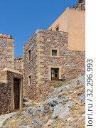 Купить «View of street fortified town Monemvasia (Laconia, Greece, Peloponnese)», фото № 32296993, снято 15 июня 2019 г. (c) Татьяна Ляпи / Фотобанк Лори