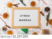 Купить «magnetic board with cyber monday words», фото № 32297685, снято 19 декабря 2018 г. (c) Syda Productions / Фотобанк Лори