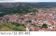 Купить «Aerial view on the city Soria. Spain», видеоролик № 32301493, снято 21 июня 2019 г. (c) Яков Филимонов / Фотобанк Лори