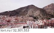 Купить «Aerial view of old University and historical part of town, Orihuela, Alicante», видеоролик № 32301553, снято 17 апреля 2019 г. (c) Яков Филимонов / Фотобанк Лори