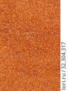 Купить «Closeup macro view of flecked old rusty metal surface yellow and orange color», фото № 32304317, снято 13 мая 2019 г. (c) А. А. Пирагис / Фотобанк Лори