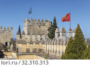 Almodovar del Rio, Cordoba Province, Spain. Almodovar castle. Founded as a Roman fort it developed into its present form during the Moorish era. It was... Стоковое фото, фотограф Ken Welsh / age Fotostock / Фотобанк Лори