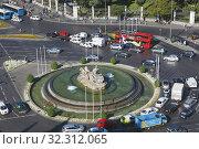 Madrid, Spain. Plaza de la Cibeles. Стоковое фото, фотограф Ken Welsh / age Fotostock / Фотобанк Лори