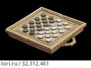 Medieval checkers or draughts. Board game made with old Midde Ages muslim and christian coins. Стоковое фото, фотограф Juan García Aunión / age Fotostock / Фотобанк Лори