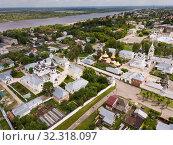 Купить «Panoramic aerial view of Trinity and Annunciation Monasteries», фото № 32318097, снято 13 июня 2018 г. (c) Яков Филимонов / Фотобанк Лори
