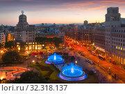 Image of Placa de Catalonia (2017 год). Стоковое фото, фотограф Яков Филимонов / Фотобанк Лори