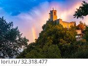 Купить «Guaita fortress in San Marino», фото № 32318477, снято 25 сентября 2019 г. (c) Коваленкова Ольга / Фотобанк Лори