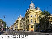 Ul Antuna Mihanovica, Zagreb, Croatia. Стоковое фото, фотограф Peter Erik Forsberg / age Fotostock / Фотобанк Лори