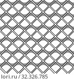 Купить «Abstract seamless geometric pattern with square elements. Simple black and white linear mosaic texture. Vector», иллюстрация № 32326785 (c) Dmitry Domashenko / Фотобанк Лори