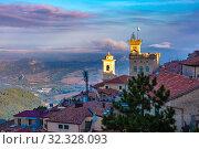 Купить «San Marino at sunrise», фото № 32328093, снято 26 сентября 2019 г. (c) Коваленкова Ольга / Фотобанк Лори