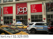 The Midtown Manhattan JCPenney department store in New York is seen on Friday, August 9, 2019. The J. C. Penney Co. is in danger of being de-listed by... Редакционное фото, фотограф Richard Levine / age Fotostock / Фотобанк Лори