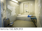 Купить «Long term segregation jail cell Kingston Penitentiary a former maximum security prison that opened June 1835 and closed September 2013 now open for Jailhouse Tours Ontario Canada.», фото № 32329313, снято 27 августа 2019 г. (c) age Fotostock / Фотобанк Лори
