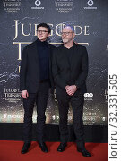 Купить «Isaac Hempstead-Wright, Liam Cunningham attends the opening of 'Game Of Thrones. The Official Exhibition' at Espacio 5.1 IFEMA on October 24, 2019 in Madrid, Spain», фото № 32331505, снято 24 октября 2019 г. (c) age Fotostock / Фотобанк Лори