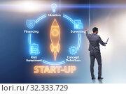 Купить «Concept of start-up and entrepreneurship», фото № 32333729, снято 22 ноября 2019 г. (c) Elnur / Фотобанк Лори
