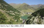 Купить «Spectacular summer landscape of Vall de Nuria - serene valley of Catalonia in Pyrenees mountains, Spain», видеоролик № 32340313, снято 19 ноября 2019 г. (c) Яков Филимонов / Фотобанк Лори
