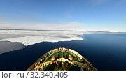 Travel on the icebreaker in the ice, Antarctica. Стоковое видео, видеограф Vladimir / Фотобанк Лори