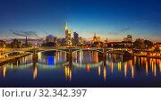 Frankfurt after sunset (2012 год). Стоковое фото, фотограф Sergey Borisov / Фотобанк Лори