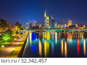 Frankfurt at night (2012 год). Стоковое фото, фотограф Sergey Borisov / Фотобанк Лори
