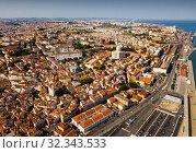 Aerial view of Lisbon with Church of Santa Engracia (2019 год). Стоковое фото, фотограф Яков Филимонов / Фотобанк Лори