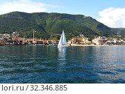 Купить «Kumbor city view in Herceg Novi municipality, Montenegro», фото № 32346885, снято 10 июня 2019 г. (c) Володина Ольга / Фотобанк Лори