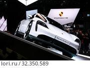 Купить «Porsche Taycan Turbo S», фото № 32350589, снято 18 сентября 2019 г. (c) Art Konovalov / Фотобанк Лори