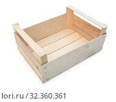 Купить «Ящик для транспортировки овощей или фруктов», фото № 32360361, снято 1 ноября 2019 г. (c) Александр Романов / Фотобанк Лори