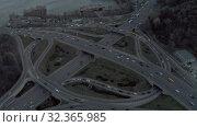 Купить «Highway viaduct Cars traffic in Kiev, captal city of Urkaine, spring time Drone 4K flight», видеоролик № 32365985, снято 23 октября 2019 г. (c) Aleksejs Bergmanis / Фотобанк Лори