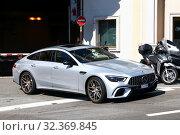Купить «Mercedes-Benz-AMG GT 4-Door Coupe», фото № 32369845, снято 12 сентября 2019 г. (c) Art Konovalov / Фотобанк Лори