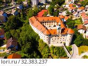 Купить «Gewerkenegg Castle, Idrija», фото № 32383237, снято 4 сентября 2019 г. (c) Яков Филимонов / Фотобанк Лори