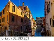 Купить «Scenic view of Venetian canals», фото № 32383261, снято 5 сентября 2019 г. (c) Яков Филимонов / Фотобанк Лори