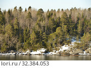 Купить «Winter sunny landscape. Island in Baltic Sea», фото № 32384053, снято 27 марта 2018 г. (c) Валерия Попова / Фотобанк Лори