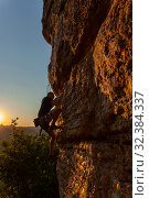 Climber on the mountain. Стоковое фото, фотограф Костенюкова Наталия / Фотобанк Лори