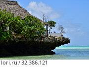 Купить «The Rock famous amazing location restaurant, Pingwe, Zanzibar, Tanzania, Africa», фото № 32386121, снято 6 октября 2019 г. (c) Знаменский Олег / Фотобанк Лори