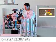 Купить «Robot Autonomy for Flexible Manufacturing, Collaborative robotic, Advanced manufacturing Unit, Technology Centre, Tecnalia Research & Innovation, Donostia...», фото № 32387245, снято 14 мая 2019 г. (c) age Fotostock / Фотобанк Лори