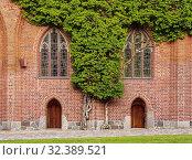 Купить «Castle of the Teutonic Order in Malbork, detailed view, Pomeranian Voivodeship, Poland.», фото № 32389521, снято 18 июня 2019 г. (c) age Fotostock / Фотобанк Лори