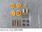 Купить «dry orange, cinnamon, clove, anise and cardamom», фото № 32390849, снято 4 октября 2018 г. (c) Syda Productions / Фотобанк Лори