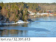 Купить «Stockholm archipelago, largest archipelago in Sweden, in Baltic Sea. Bright sunny spring day», фото № 32391613, снято 27 марта 2018 г. (c) Валерия Попова / Фотобанк Лори