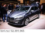 Купить «BMW 2-series Active Tourer», фото № 32391965, снято 17 сентября 2019 г. (c) Art Konovalov / Фотобанк Лори