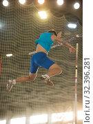 Купить «Pole vault training in the sports stadium - young fit man falling down after the jump», фото № 32396281, снято 1 ноября 2019 г. (c) Константин Шишкин / Фотобанк Лори