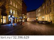 Купить «Вечерняя Прага, Чехия», фото № 32396629, снято 21 января 2019 г. (c) Ольга Коцюба / Фотобанк Лори