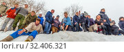 "Купить «Russia, Samara, March 2019: Shrovetide. Festivities on the wires of winter. Game ""Zarnitsa"". Storming a snowy mountain.», фото № 32406321, снято 10 марта 2019 г. (c) Акиньшин Владимир / Фотобанк Лори"