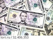 Купить «Background made of dollars. Large file size», фото № 32406353, снято 7 июня 2019 г. (c) Володина Ольга / Фотобанк Лори